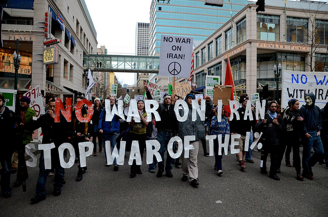 Occupy Portland Marches Against War