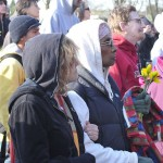 flowers at Trayvon rally