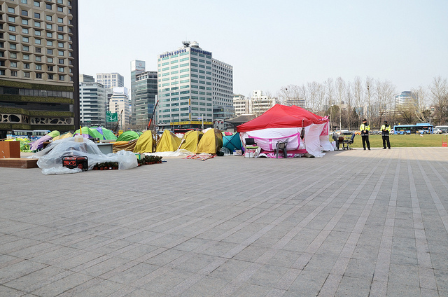 Occupy South Korea: A Ghost Encampment