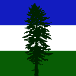 Bioregional flag of Cascadia, lovingly referred to as the doug