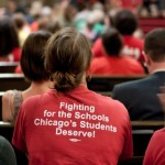 Attendees at the August 29 town hall meeting to support the Chicago Teachers Union.  Photo by Sarah Jane Rhee/Chicago Indymedia, Creative Commons.