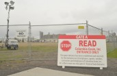 Fencing and warning signs have been put up around the publicly owned Port of Portland Terminal 5 in preparation for a possible labor conflict.  Photo by Pete Shaw.