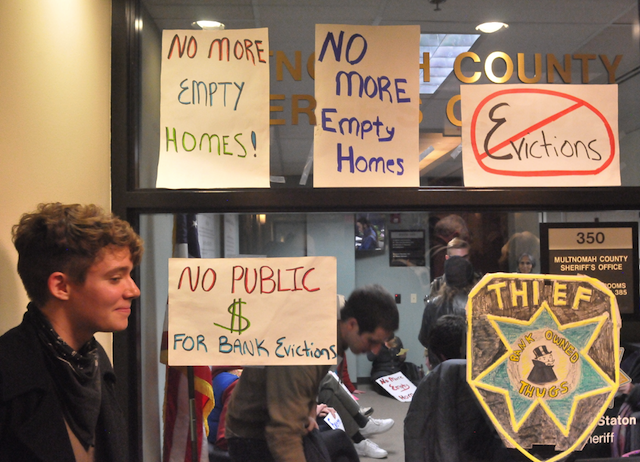 Community Home Defenders Sit In to Persuade Sheriff to Step Up