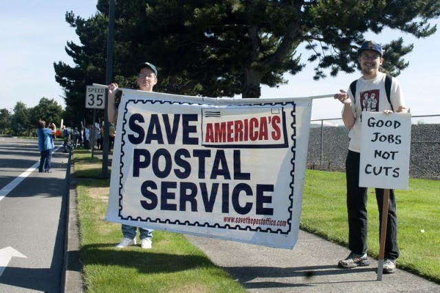 Protesters Target Postal Privatization, Demand Corporate Mail Theft End