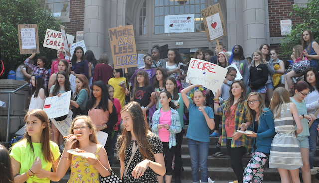 Da Vinci Students Stand Against PPS; Model Values Learned from Well-Designed Education