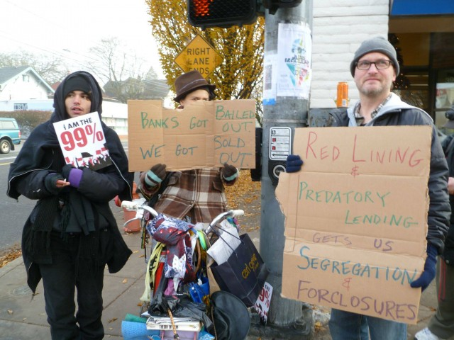 Bank redlining demonstration, December 5, 2011