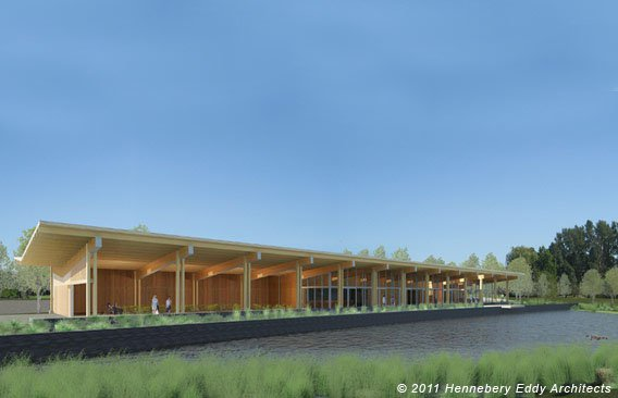 The proposed $5,430,911 clubhouse for Heron Lakes Golf Course